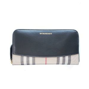 Burberry Vintage Check Two-Tone Wallet - Black